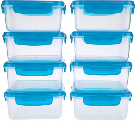 Lock & Lock 8 piece Square Storage Set