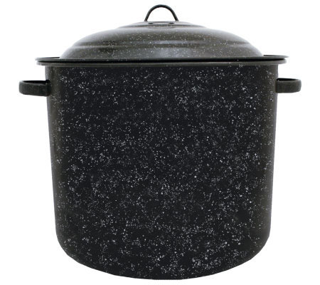 34 Qt Porcelain On Steel Stockpot With Lid