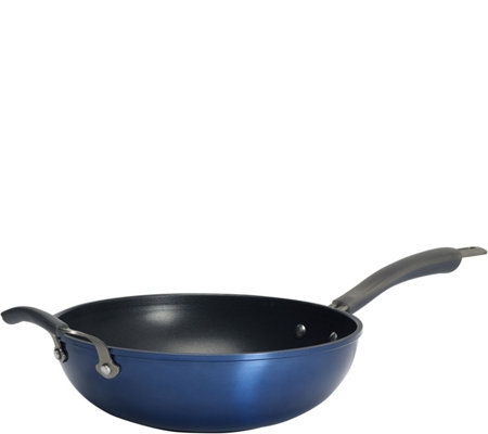 "Epicurious 11"" Open Stir-Fry Pan with Assist Handle"