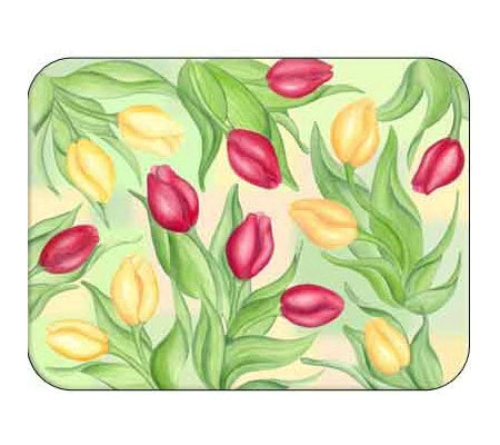 "Tuftop ""Tulips"" Tempered Glass Kitchen Board"