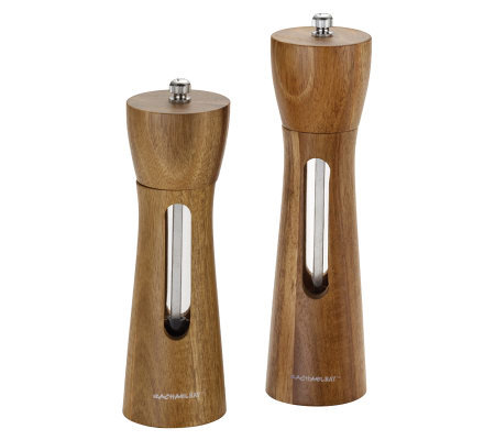 Rachael Ray Tools Acacia Salt and Pepper Grinder Set