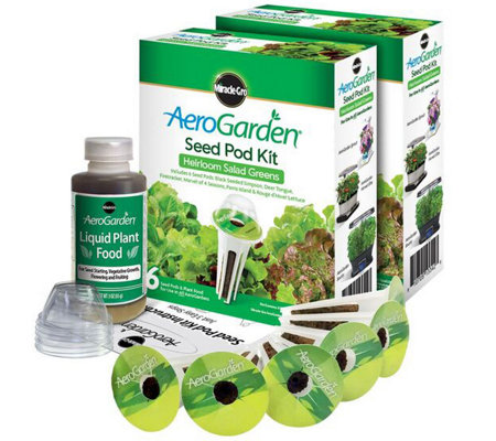 Miracle-Gro AeroGarden S/2 6-Pod Heirloom Salad Seed Pod Kits
