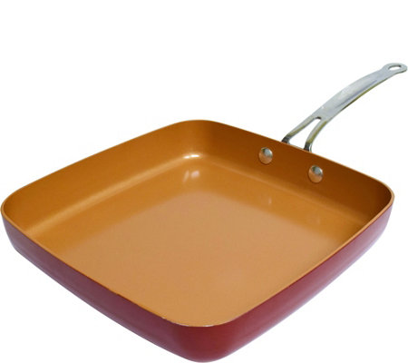 "Red Copper 12"" Square Pan"