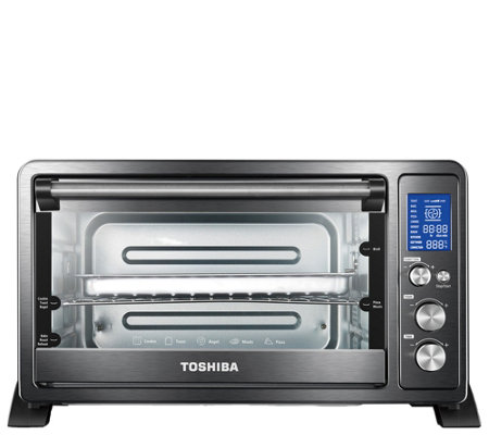 Toshiba AC25CEW-CHBS Digital Toaster Oven - Black/Stainless