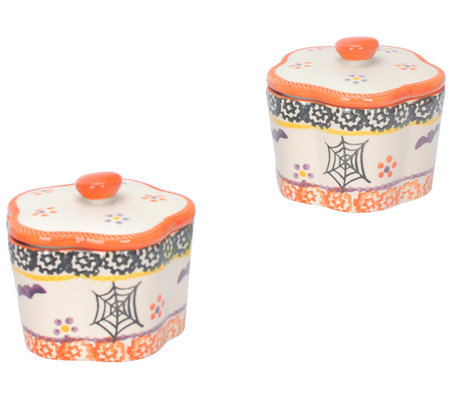 Temp-tations Old World Flower-Shaped Ramekin Set, Boofetti