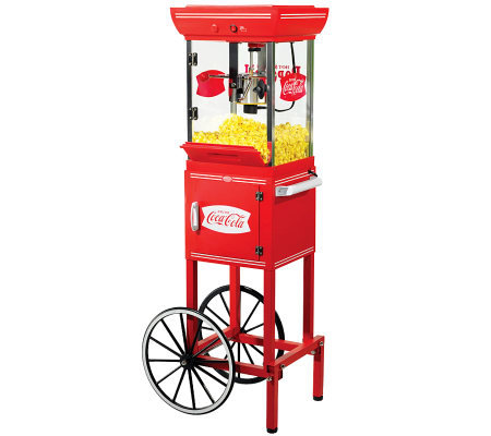 Nostalgia Electrics Coca-Cola Series Movie TimePopcorn Cart