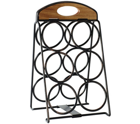 Gourmet Basics by Mikasa Folding 6-Bottle WineRack