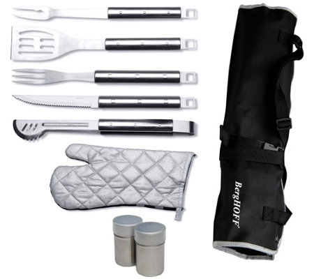 Berghoff Cubo 9 Piece Stainless Steel Barbecueset With Apron