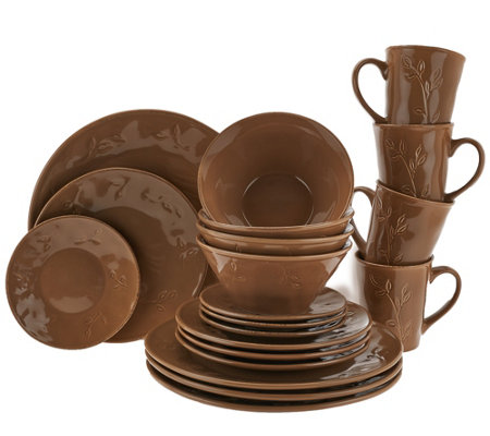 Rachael Ray Garden Sage 20-Piece Service for 4 Dinnerware Set  sc 1 st  QVC.com : rachael ray tableware - pezcame.com