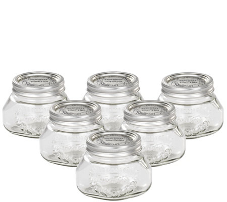 Leifheit 17-oz Glass Wide-Mouth Mason Canning Jar