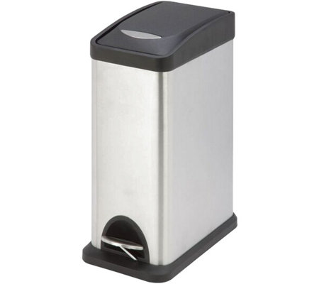 Honey-Can-Do 8L Rectangular Stainless Step Trash Can