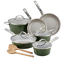 Ayesha Curry 12-Piece Porcelain Enamel Nonstick Cookware Set - K376459
