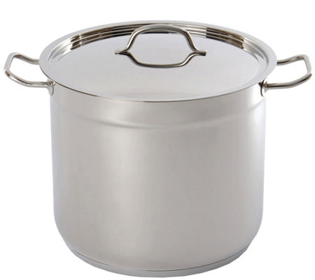 BergHOFF Hotel 16-qt Stainless Steel Covered Stockpot