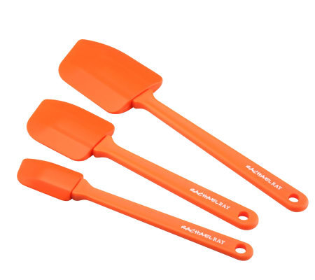 Rachael Ray 3pc Orange Pointed Silicone SpatulaSet