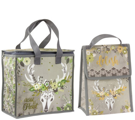 86b7cc0cf52b Karma Gifts Deer Cooler Bag and Lunch Sack — QVC.com