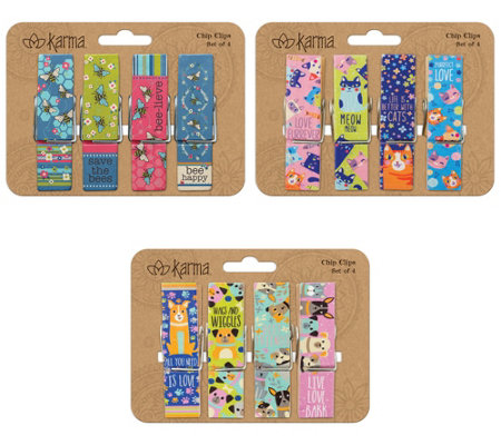 Karma Gifts 12 Piece Chip Clips Animals