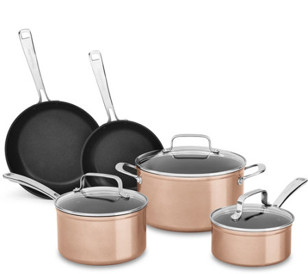 KitchenAid Hard Anodized Nonstick Cookware Set-Toffee Delight