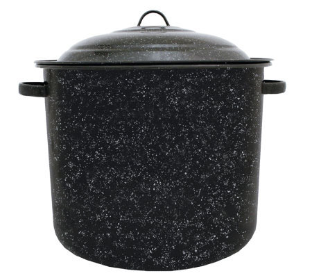 21-qt Porcelain-on-Steel Stockpot with Lid