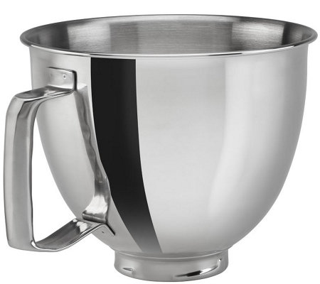 KitchenAid 3.5-Qt Polished Stainless Steel Bowlwith Handle