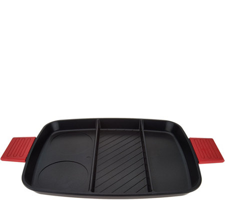 Cook's Essentials 3-in-1 Nonstick Grill Pan