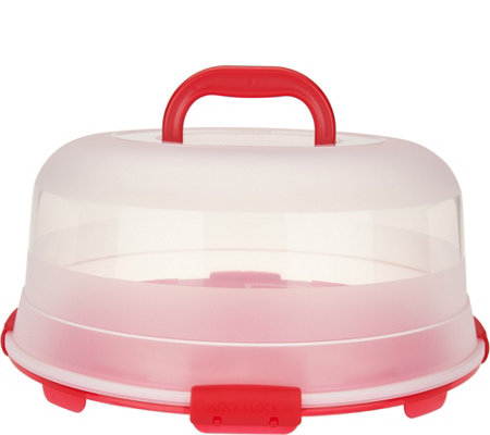 Lock & Lock Portable Cake Carrier with Handle Lid