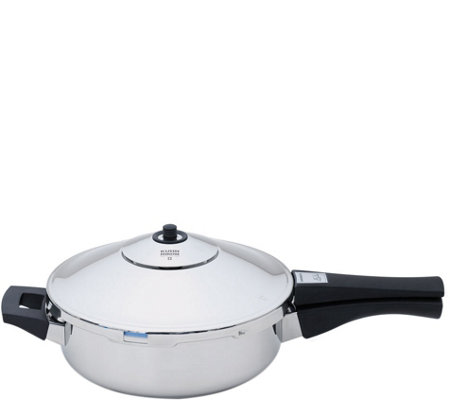 "Kuhn Rikon Stainless 9.5"" Duromatic Frying PanPressure Cooker"