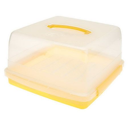 Lock Lock Double Layer Cake Storage Container Page 1 QVCcom