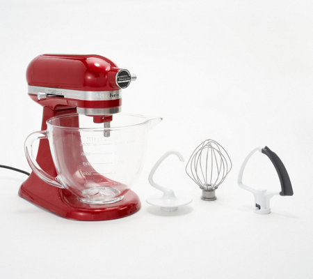 KitchenAid 3.5-qt Artisan Design Stand Mixer with Glass Bowl — QVC.com