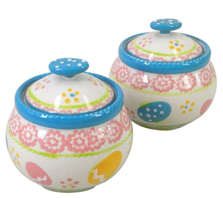 Temp Tations Seasonal Set Of 2 Covered Ramekins