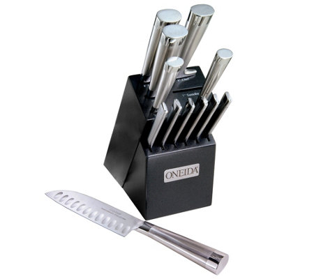 Oneida 13-Piece Stainless Steel Knife Set withBlock