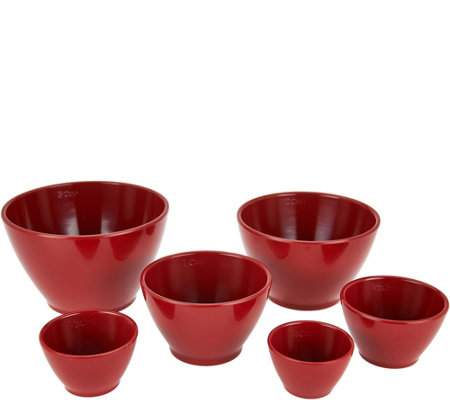 """As Is"" Rachael Ray 6-piece Melamine Measuring Cups"