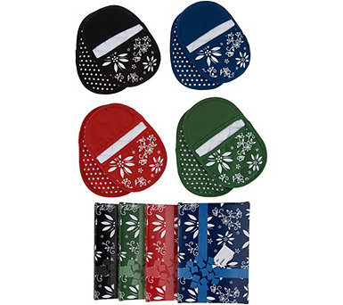 Temp-tations Set of 4 Oven Mitt Sets with Gift Boxes - K47965