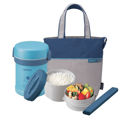 Zojirushi Insulated 2 Piece Lunch Jar With Tote Bag