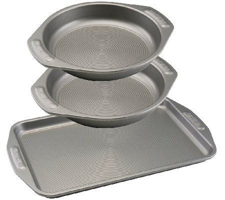 Circulon Nonstick Bakeware Three-Piece Cookie and Cake Set