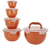 Lock & Lock 5-Piece Nesting Tulip Bowl Storage Set - K47966
