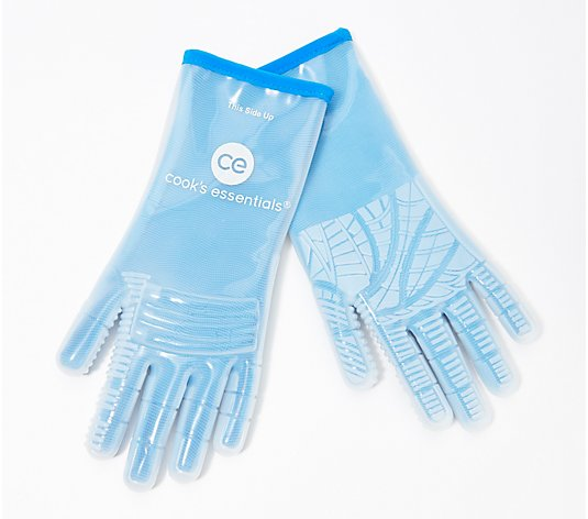 Cook's Essentials Multipurpose Heat-safe Silicone Gloves