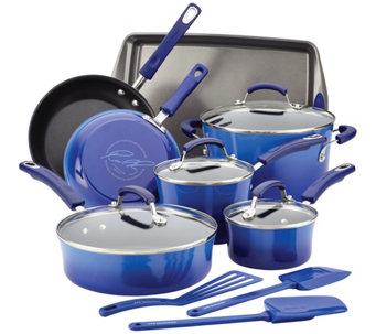 Attirant Rachael Ray Hard Enamel Nonstick 14 Piece Cookware Set   K305767