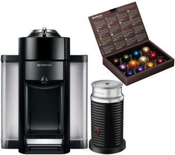 qvc kitchen appliances nespresso evoluo coffee machine with milk frother by delonghi k306667 espresso makers tea small appliances kitchen