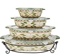 Temp-tations Old World Set of 4 Oval Bakers - K45967