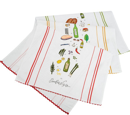 Rachael Ray Set of 3 Recipe Kitchen Towels