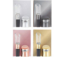 Rabbit Set of 4 Wine Sealer and Aerator Sets with Gift Boxes - K48067