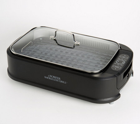Power Smokeless Indoor Electric 1500w Grill W Griddle