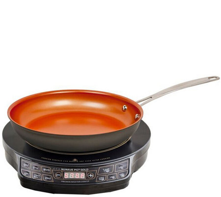 Nuwave Precision Induction Cooktop Gold With Frying Pan