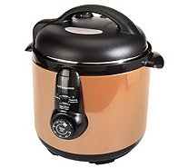 CooksEssentials 6.5 qt. Round Nonstick Stainless Steel Pressure Cooker - K40168
