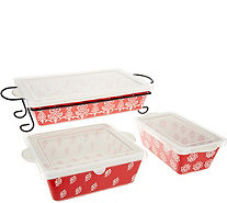 Cook's Essentials Madison 4 pc. Bakeware Set with Lids - K45568