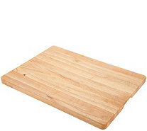 Architec Rubberwood XL Rectangular Concave Cutting Board - K48068
