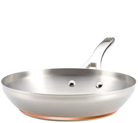 "Anolon Nouvelle Copper Stainless Steel 10-1/2""French Skillet"
