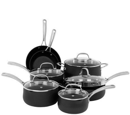 Oneida 12-Piece Hard-Anodized Aluminum CookwareSet - Gray