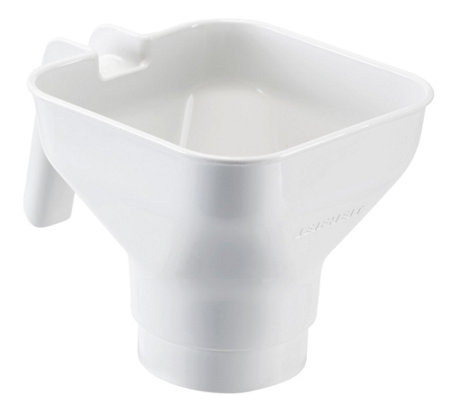 Leifheit Easy-Hold Canning Funnel for Wide-Mouth Jars - White