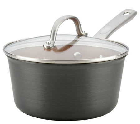 Ayesha Curry 3-qt Hard-Anodized Aluminum Covered Saucepan